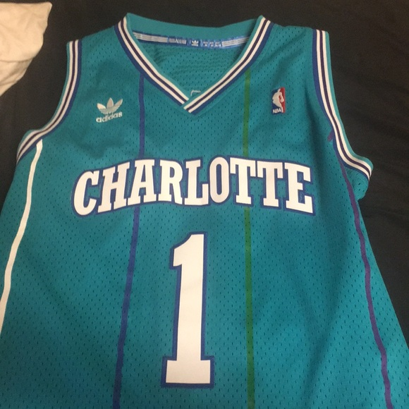 more photos 91e14 100be Muggsy Bogues Adidas Charlotte Hornets Jersey